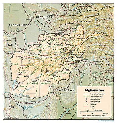 afghanistan map travel information tourism geography