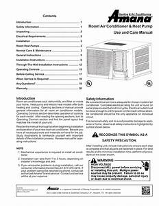 Amana Through The Wall Air Conditioner Manual