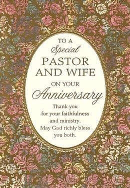 wedding bulletin covers to a special pastor and on your anniversary