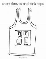 Shorts Coloring Tank Tops Template Sleeves Jersey Skirt sketch template