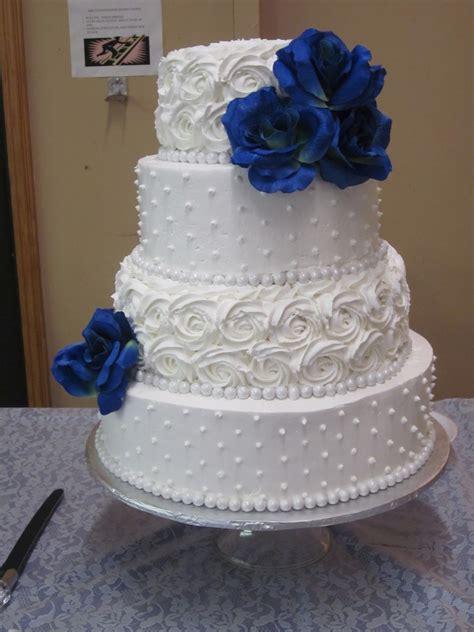 dot  rosette wedding cake cakecentralcom