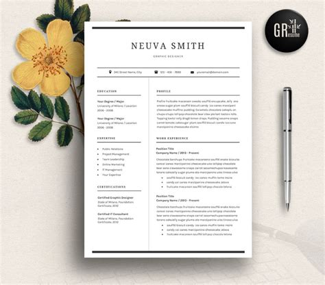 Graphic Design Resume Template Word by 20 Designer Resume Template Word Indesign Psd Template Graphic Cloud