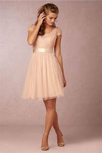 best selling a line v neck knee length tulle champagne With short champagne wedding dresses