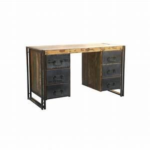 Schreibtisch Aus Holz : schreibtisch holz metall haus ideen ~ Whattoseeinmadrid.com Haus und Dekorationen