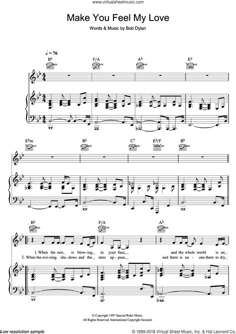 adele make you feel my love sheet music for voice piano or guitar