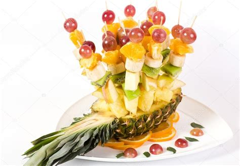 fruit canapes fruit canape on toothpick stock photo forewer 16228615