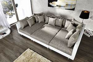 deco salon blanc et gris With tapis de course avec canapé d angle nantes