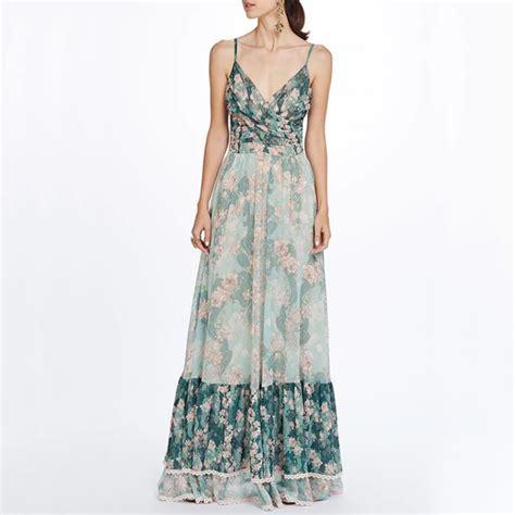 Women's Summer Casual V-Neck Sleeveless High-Waist Dress ...