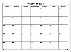 November 2018 calendar * 51+ templates of printable calendars