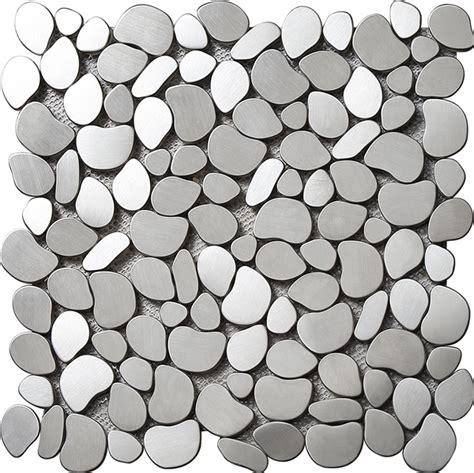 metal mosaic tiles stainless steel multi silver irregular