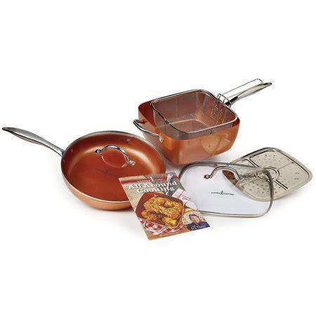 copper chef  piece cookware set walmartcom
