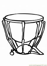 Coloring Drums Coloringpages101 sketch template