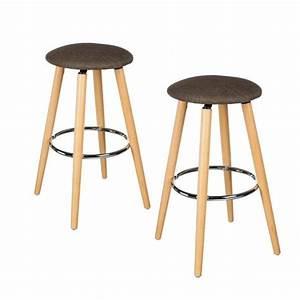 Tabouret De Bar Taupe : lot de 2 tabourets de bar naor taupe chaise et tabouret eminza ~ Melissatoandfro.com Idées de Décoration