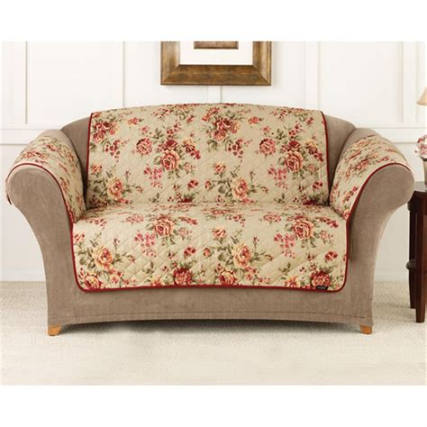 sofa covers sure fit 174 lexington floral sofa pet cover 292857 furniture covers at sportsman s guide