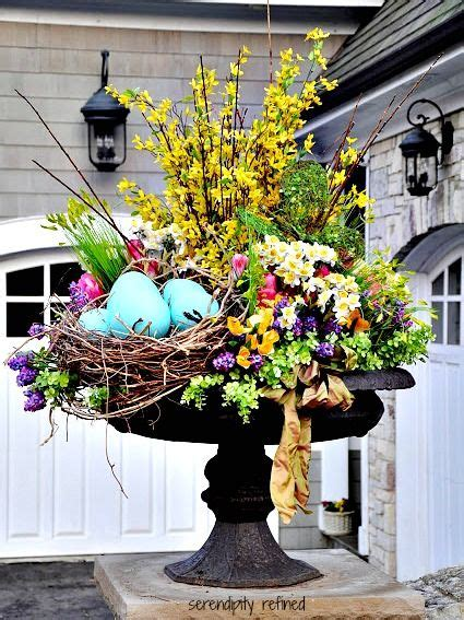 Outdoor Flower Decorations by 30 Lovely Easter Outdoor Decorations