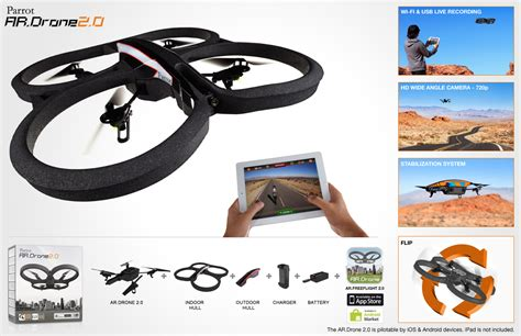 iphone drone new parrot ar drone 2 quadricopter 720p hd for