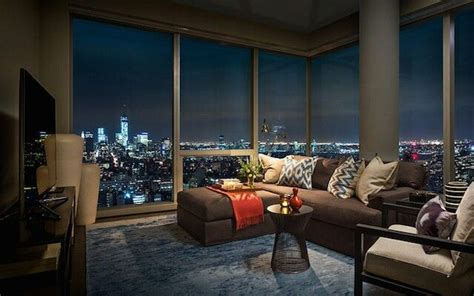 Luxus Apartment New York by Beautiful Space Living Room View Nyc Foyer