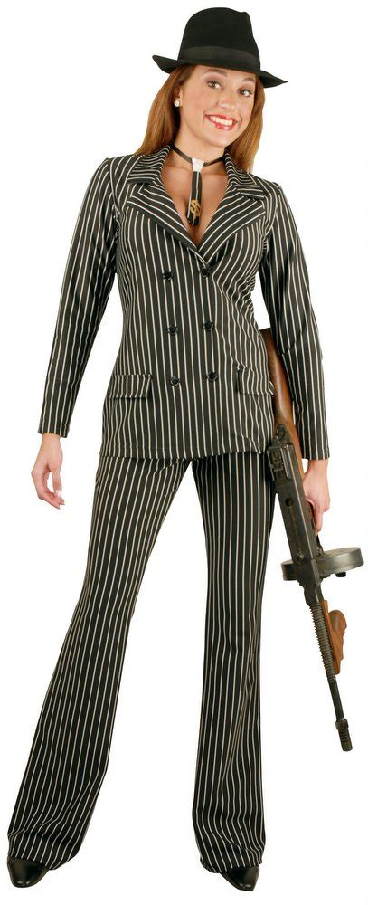 Womenu0026#39;s Sexy Gangster Suit Costume - Candy Apple Costumes - Plus Size 20u0026#39;s Costumes