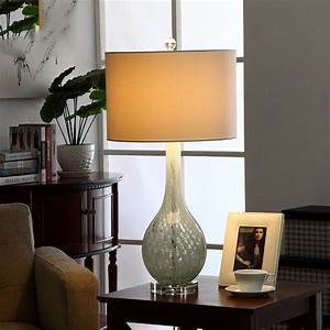Fashion, Art, Glass, Table, Lamp, 110v, 220v, Luxury, Bedroom, Bedside, Lamp, Blue, Stripe, Glass, Decoration