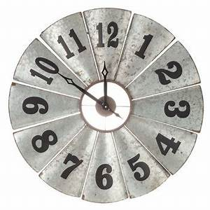 galvanized metal windmill clock hobby lobby 1325034 With best brand of paint for kitchen cabinets with metal wall clock art