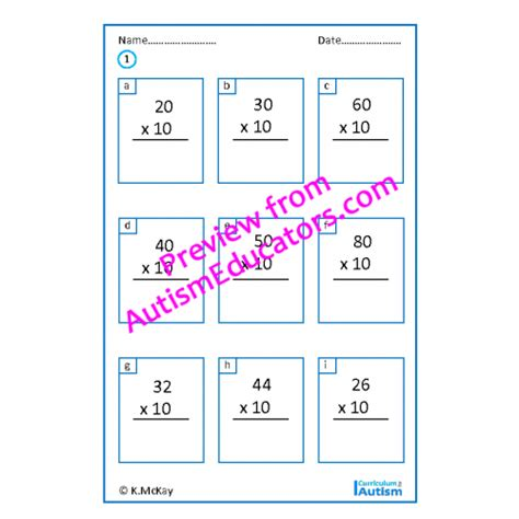 multiply divide by 10s worksheets middle school math