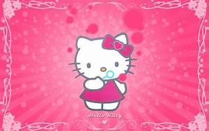 Hello Kitty Cute Pink Background Wallpaper   WallpaperLepi