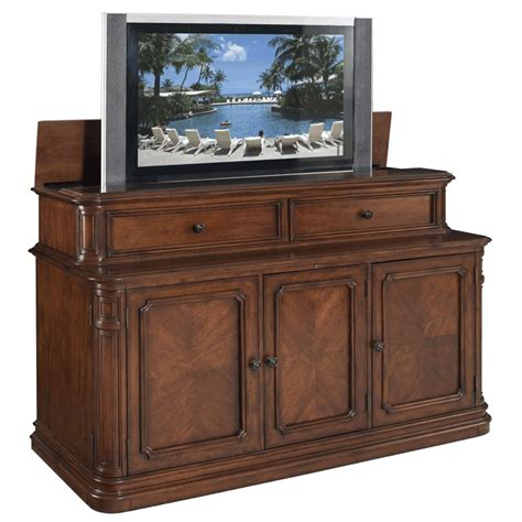 Tv Lift Cabinet Banyan Creek Xl Lift For 40 62 Inch