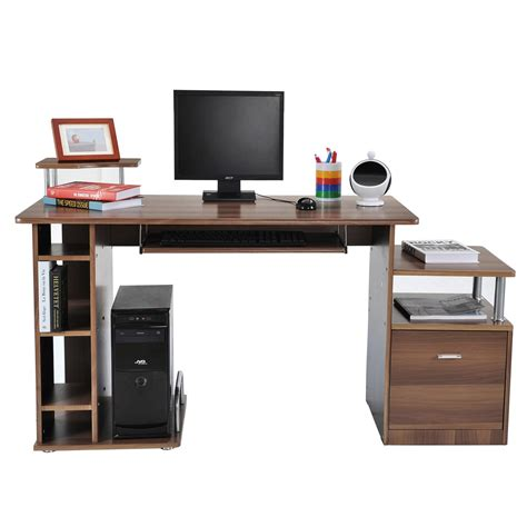 table pour ordinateur table meuble pc informatique multimedia en mdf neuf82 aosom fr