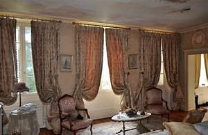 Tissus Pour Double Rideaux : rideaux classiques style xviii me si cle atelier secrea ~ Melissatoandfro.com Idées de Décoration