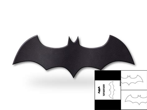 batman template template for batman arkham origins chest emblem the foam cave