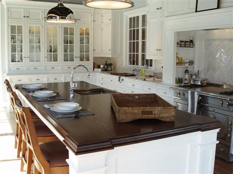 wood island tops kitchens premium wide plank wood countertops custom