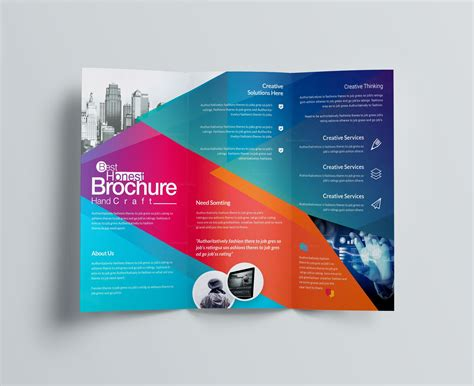 4 Fold Brochure Template Best And Professional Templates Excellent Professional Corporate Tri Fold Brochure