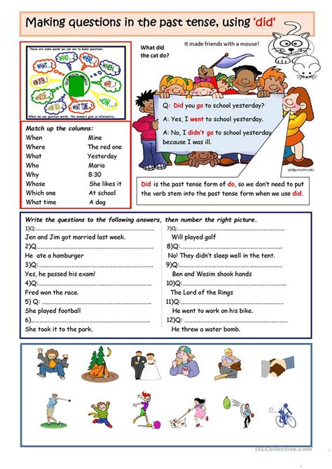Making Questions With 'did' Worksheet  Free Esl Printable Worksheets Made By Teachers
