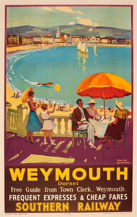 southern railway travel advertising poster
