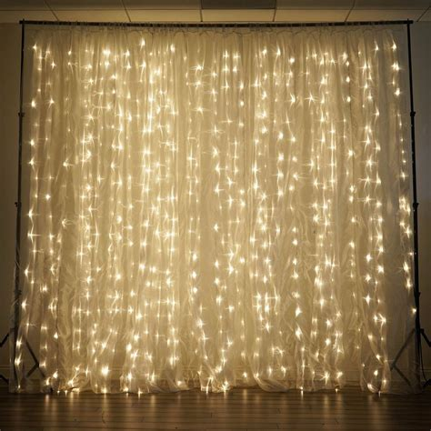 white backdrop with lights 600 led lights big wedding party photography organza