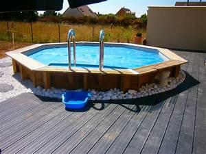 Piscine Bois Semi Enterrée : terrasse avec piscine 69 photos soph34 ~ Melissatoandfro.com Idées de Décoration