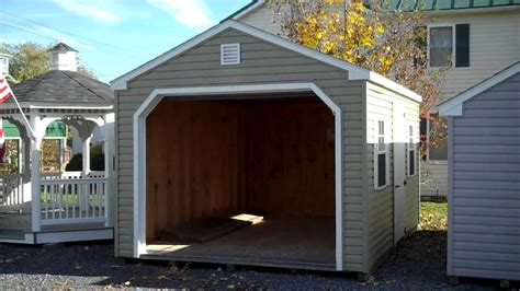 Box X Auto by Vinyl Prefabricated Garages 12x16 Prefab Garage Amish