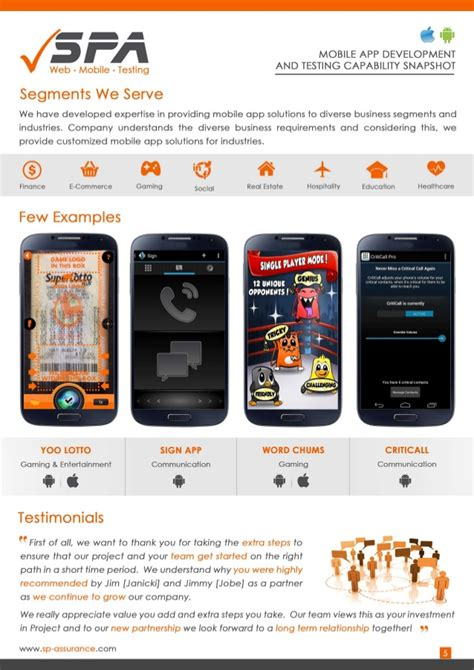 Mobile Apps Development Software by Mobile App Development Testing Brochure