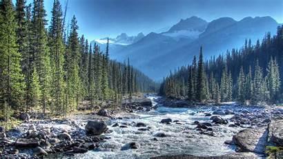 Canada Alberta Portland Wallpapers River Mistaya Background