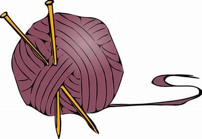 Knitting Clip Yarn Needles Clipart Svg Clker