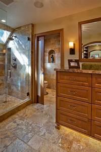 Craftsman, Master, Bathroom, With, Neutral, Tile, Floors