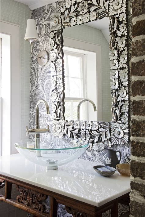 mirror on mirror decorating for bathroom 15 inspirations of silver wall mirrors 25614