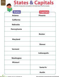 abbreviating  states abbreviations worksheet