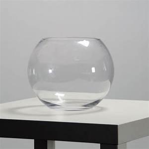 Vase Rond Transparent : location vase boule 25 cm centre de table sur lyon et vienne ~ Teatrodelosmanantiales.com Idées de Décoration