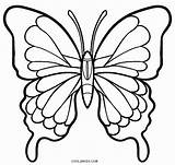 Butterfly Coloring Butterflies Pages Simple Drawing Printable Wings Easy Adult Cool2bkids Drawings Insect Outline Colouring Sheets Getcolorings Line Stencil Colorful sketch template