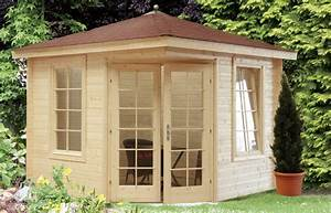 Einfache Holzfenster Für Gartenhaus : 5 eck gartenhaus 280x280cm holzhaus bausatz doppelt r ~ Articles-book.com Haus und Dekorationen