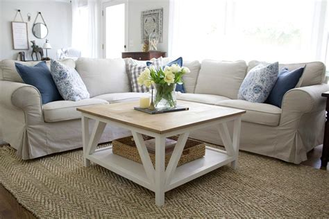 modern farmhouse square coffee table buildsomething