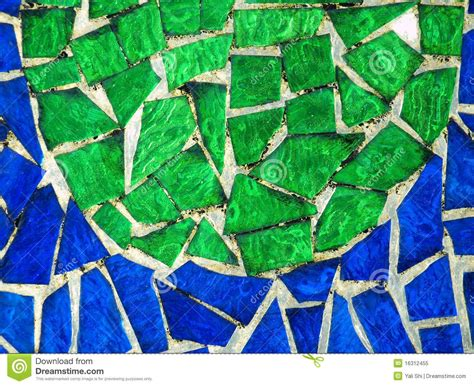 colored glass mosaic stock image image of green opaque