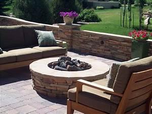 Terraced Backyard Design with Radius Walls - Landscaping