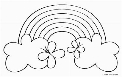 Rainbow Coloring Pages Printable Fish Butterfly Printables
